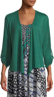 Nic+Zoe Take Comfort Tab-Sleeve Four-Way Cardigan