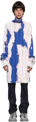 Balenciaga Oversize Bleached Cotton Knit Sweater