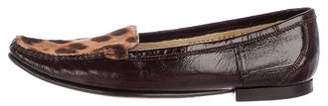 Dolce & Gabbana Leather Round-Toe Loafers