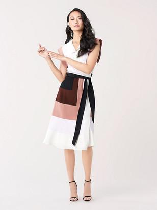Diane von Furstenberg Ingrid Silk Crepe de Chine Wrap Dress