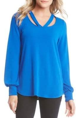 Karen Kane Long Sleeve Cutout Sweater