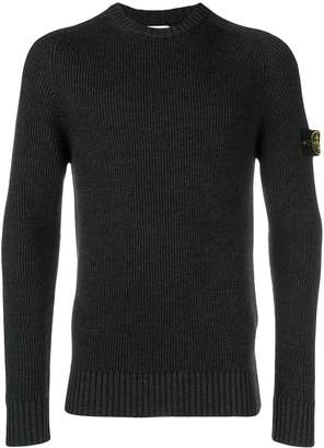 Stone Island ribbed fitted sweater