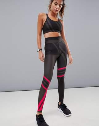 Asos 4505 4505 Legging With Linear Glo Print