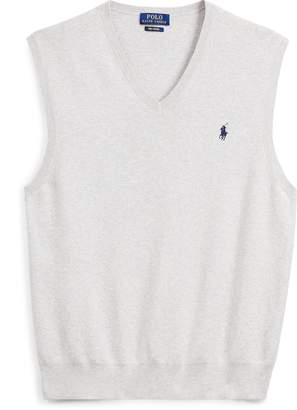 Ralph Lauren Cotton V-Neck Sweater Vest