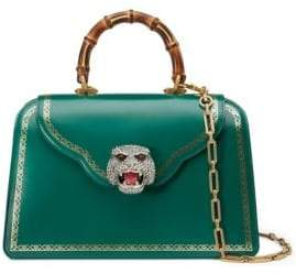 Gucci Thiara Frame Print Leather Top Handle Bag