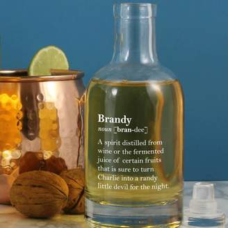 Copper and Sable Witty Personalised Brandy Definition Bottle