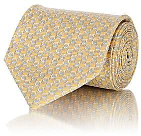 Salvatore Ferragamo Men's Gancio-Print Silk Twill Necktie - Yellow