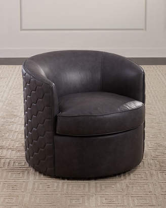 Bernhardt Corbin Leather Swivel Chair