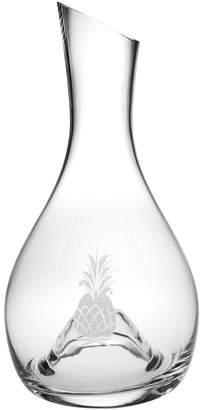 Susquehanna Glass Pineapple Handcut Punted Wine Carafe