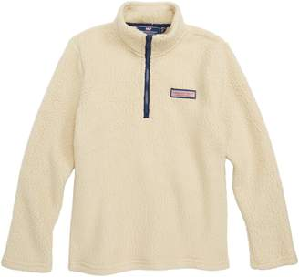 Vineyard Vines Harbor Fleece Half Zip Pullover