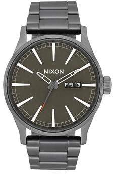 Nixon Sentry Short Sleeve All Gunmetal Slate Orange Watch