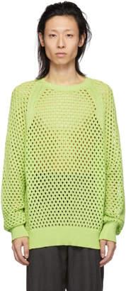 Cmmn Swdn Yellow Crochet Knit Toby Sweater