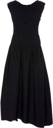 Narciso Rodriguez Engineered Pleat Cotton Dress