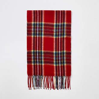 River Island Red plaid check scarf