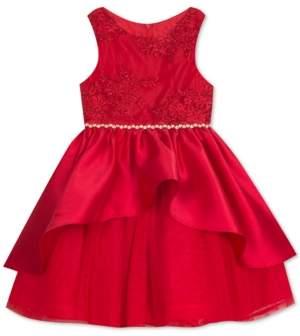 Rare Editions Toddler Girls Lace Peplum Dress