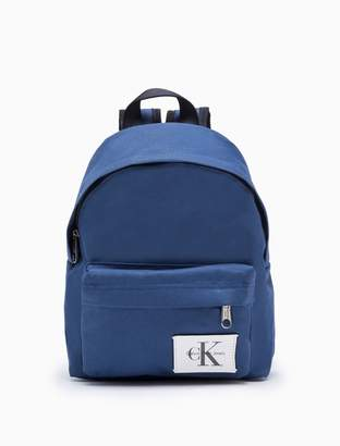 Calvin Klein monogram logo campus backpack