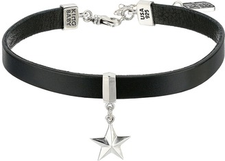 King Baby Studio - Leather Choker Necklace with Star Necklace $365 thestylecure.com