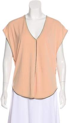 By Malene Birger V-Neckline Short Sleeve Top