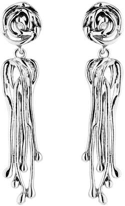Hagit Sterling Silver Openwork Dangle Earrings