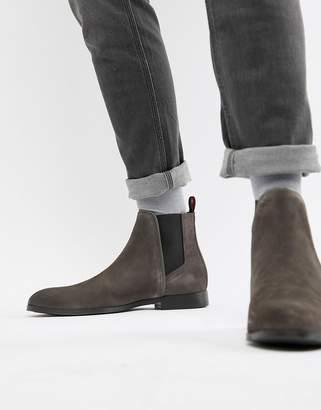 HUGO Boheme Suede Chelsea Boots in Gray