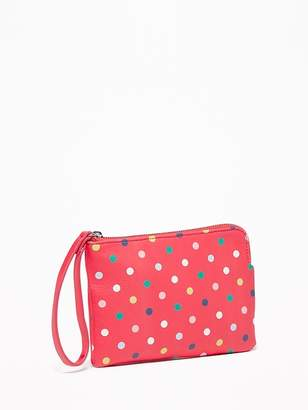 Old Navy Graphic Faux-Leather Wristlet for Women