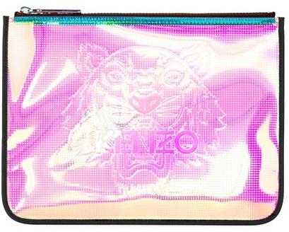 Kenzo Iridescent A4 tiger clutch