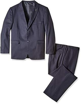 Stacy Adams Men's Big Bit and Tall Slim Fit Metro Vested Suit