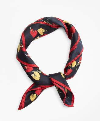 Brooks Brothers Tropical-Print Silk Square Scarf