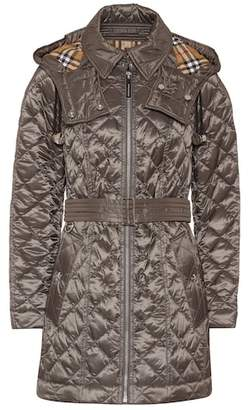 Burberry Baughton detachable hood quilted coat