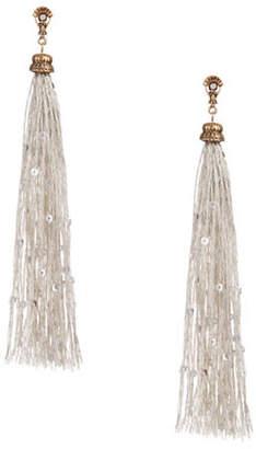 Design Lab Lord & Taylor Long Tassel Sequin Earrings