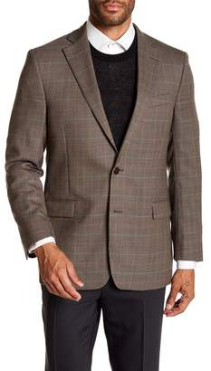 Brooks Brothers Brown Houndstooth Two Button Notch Lapel Wool Regent Fit Sport Coat