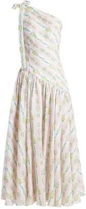 Emilia Wickstead Simone one-shoulder linen maxi dress