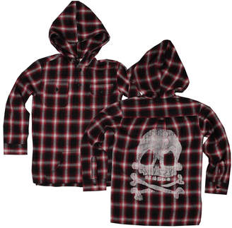 Wes And Willy Wes & Willy Wine Plaid Hoodie