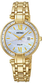 Seiko Women's Goldtone Crystal-Accented Bracelet Watch $475 thestylecure.com