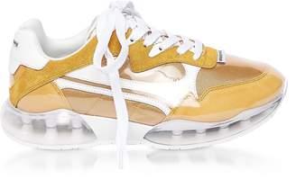 Alexander Wang Mineral Yellow Suede&Mesh Stadium Sneakers