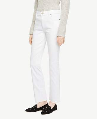 Ann Taylor Tall Frayed Crop Jeans in White