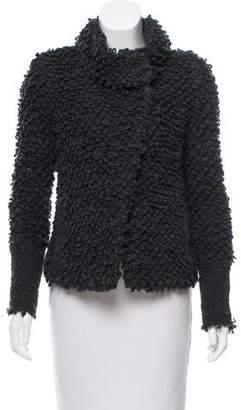 IRO Asymmetrical Chunky Knit Jacket