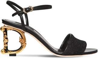 Dolce & Gabbana 75mm Keira Logo Heel Lurex Sandals