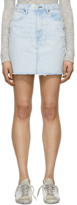 Rag & Bone Blue Denim Moss Miniskirt