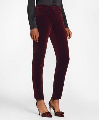 Brooks Brothers Slim-Fit Stretch Cotton Velvet Ankle Pants