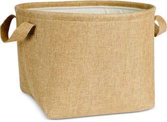 Household Essentials Round Soft-Side Burlap Basket