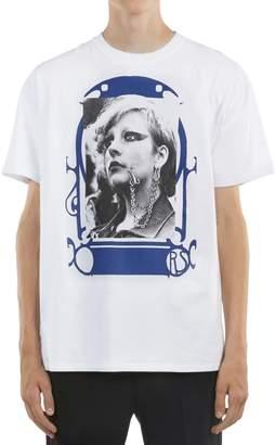 Raf Simons Oversized Pierced Mouth Printed T-Shirt