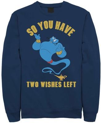 Licensed Character Juniors' Disney's Aladdin Genie Two Wishes Left Fleece Sweater