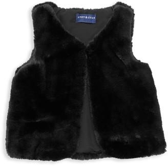 Andy & Evan Little Girl's & Girl's Faux Fur Vest