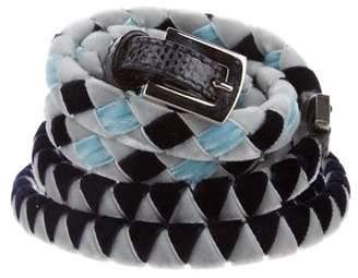 Malo Velvet Double-Wrap Belt