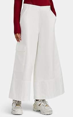 Moncler 2 1952 Women's Herringbone-Weave Cotton Culottes - White