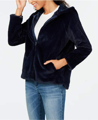 Style&Co. Style & Co Petite Faux-Fur Hooded Jacket