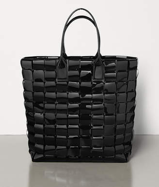 Bottega Veneta LARGE TOTE IN POLY AND PATENT LEATHER