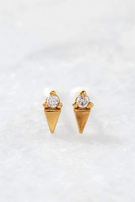 Tai CZ Ice Cream Cone Stud Earrings