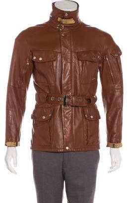 Ralph Lauren Black Label Leather Field Jacket